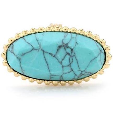 anillo turquesa falso